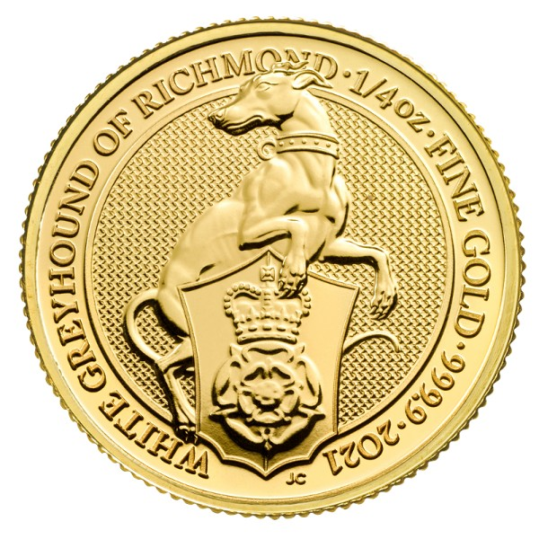 Regno Unito - Gold Coin 1/4 oz, Greyhound of Richmond, 2021