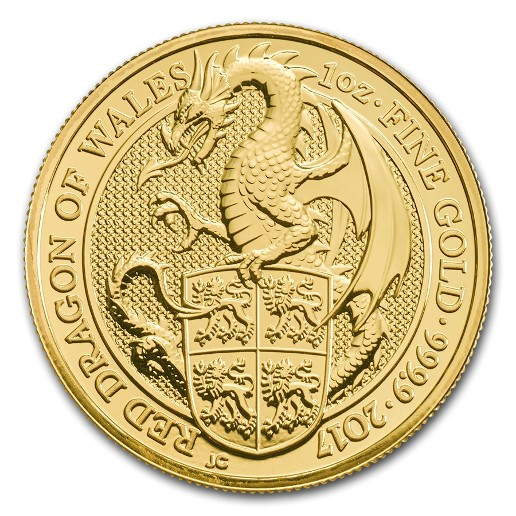Großbritannien - Goldmunze BU 1 oz, Dragon, 2017