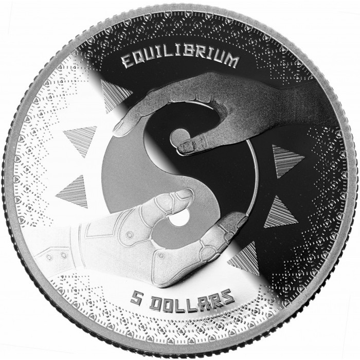 Tokelau - Equilibrium, 1 ounce Silver Bullion, 2020