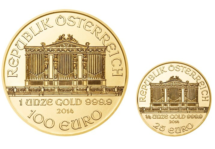 Austria - Two coins set proof, Vienna Philharmonic 2014