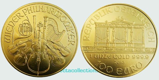 Austria - 100 Euro, Vienna Philharmonic gold 1 oz, BU 2013