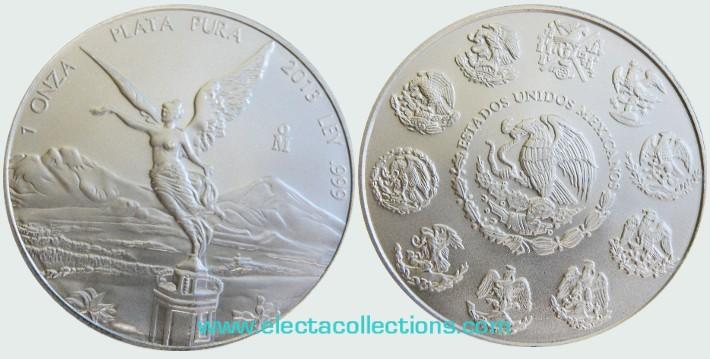 Mexico - Silver coin BU 1 oz, Libertad, 2013