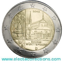 Germany – 2 Euro, Maulbronn monastery, Baden-Württemberg, 2013