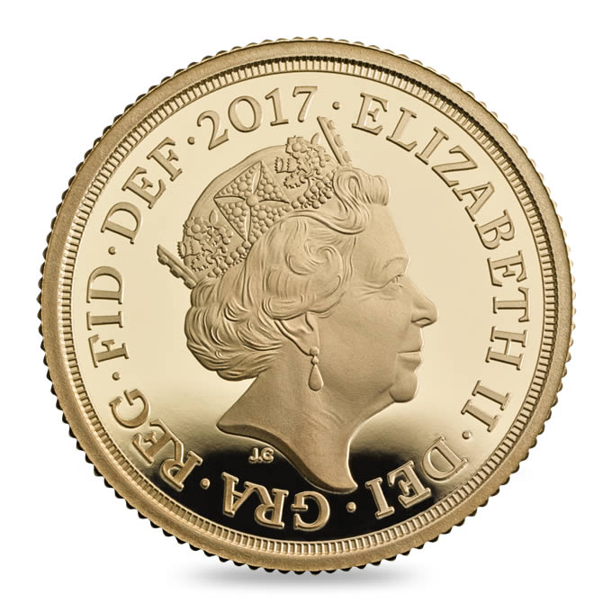 Royaume Uni - Elizabeth II, Souverain d'or BE, 2017