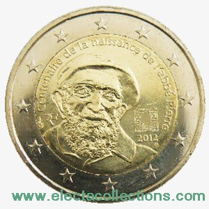 France - 2 Euro, 100th anniversary of the birth of the Abbé Pierre, 2012