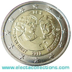 Belgium – 2 Euro, International Women's Day, 2011
