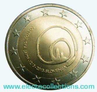 Slovenia - 2 Euro commemorative,  800 Years since the Discovery of Postojna's Cave, 2013