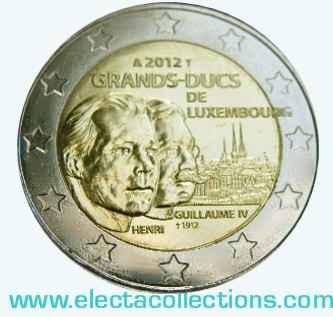 Luxembourg - 2 Euro, Grand-Duc Guillaume IV, 2012 (card)