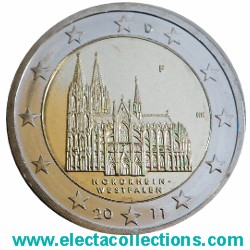 Germany – 2 Euro, Cathedral of Cologne, 2011