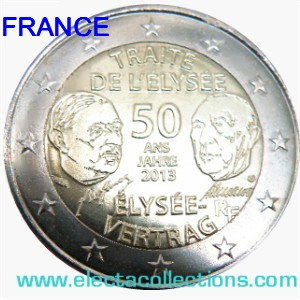France - 2 Euro, 50th anniversary of the Elysee Treaty, 2013
