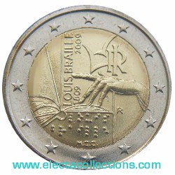 Italy – 2 Euro, Louis Braille, 2009