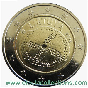 Lithuania - 2 Euro, Baltic Culture, 2016