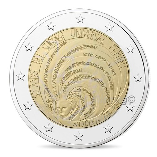Andorra - 2 Euro, Ibero-American Summit, 2020 (proof)