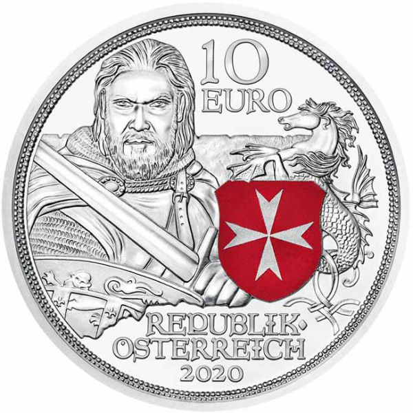 Autriche - 10 euros argent Knights' Tales, Fortitude 2020