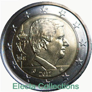 Belgica - 2 Euro, King Philippe, 2017 (BU in capsule)