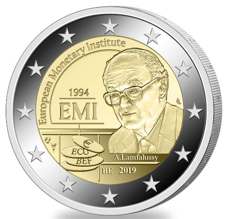 Belgium – 2 Euro, European Monetary Institute, 2019 (coin card)