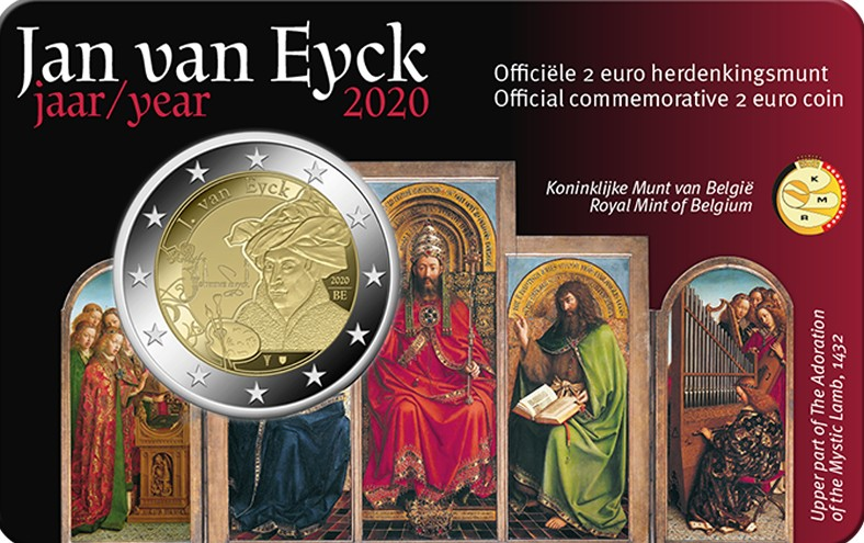 Belgium – 2 Euro, Jan van Eyck, 2020 (coin card NL)