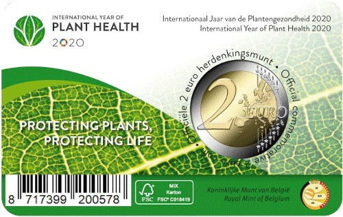 Belgio - 2 Euro, Year of Plant Health, 2020 (coin card)