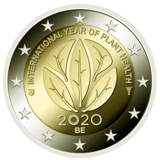 Belgium – 2 Euro, Year of Plant Health, 2020 (BU in caps)