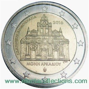 Greece – 2 Euro, Arkadi Monastery, 2016 (unc)