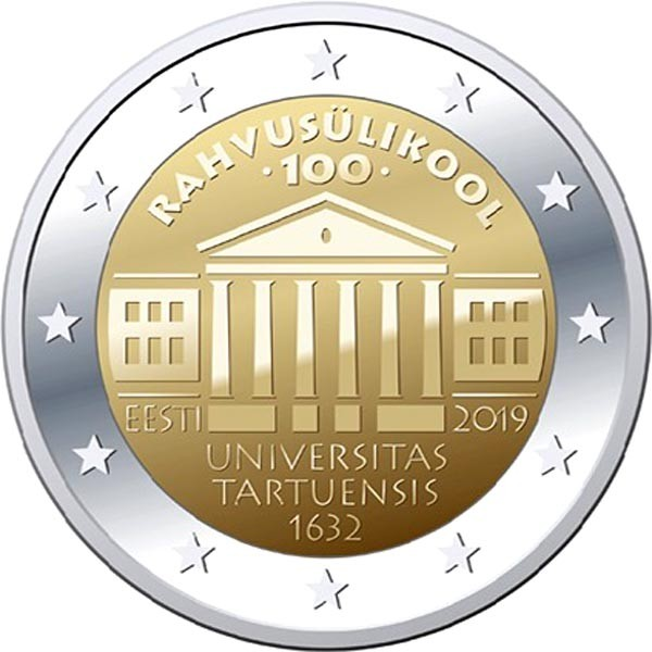 Estonia - 2 Euro, University of Tartu, 2019