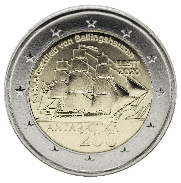 Estonia - 2 Euro, Antarctic Expedition, 2020 (unc)