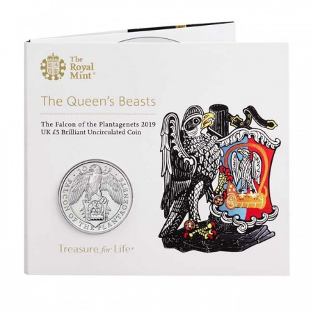 Great Britain - 5 pounds, Falcon, 2019 (BU in blister)