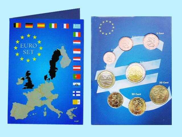 Finland - Euro coins, Complete UNC Set, 2013
