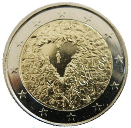 Finland - 2 Euro, Declaration of Human Rights, 2008