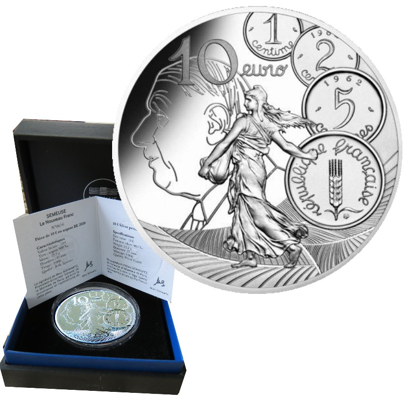 France - 10 Euro Argent proof, THE NEW FRANC, 2020