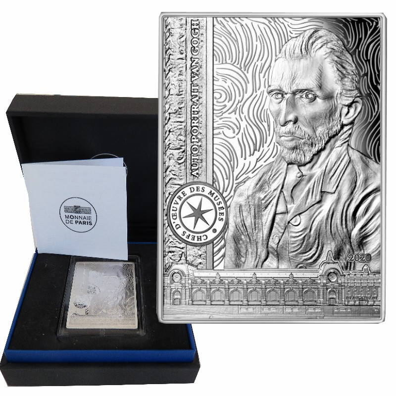 France - 10 Euro argent BE, VAN GOGH SELF-PORTRAIT, 2020