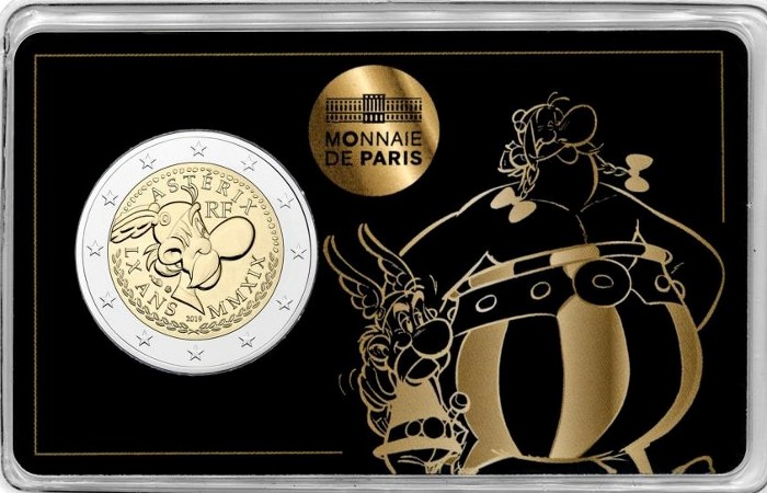 France - 2 Euro, Asterix-Obelix, 2019 (coin card)