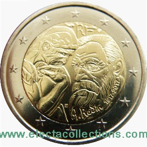 France - 2 Euro commemorative, Auguste Rodin, 2017 (unc)