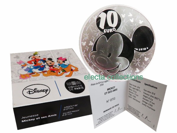 France - 10 Euro Silver proof, Mickey and Minnie, 2018