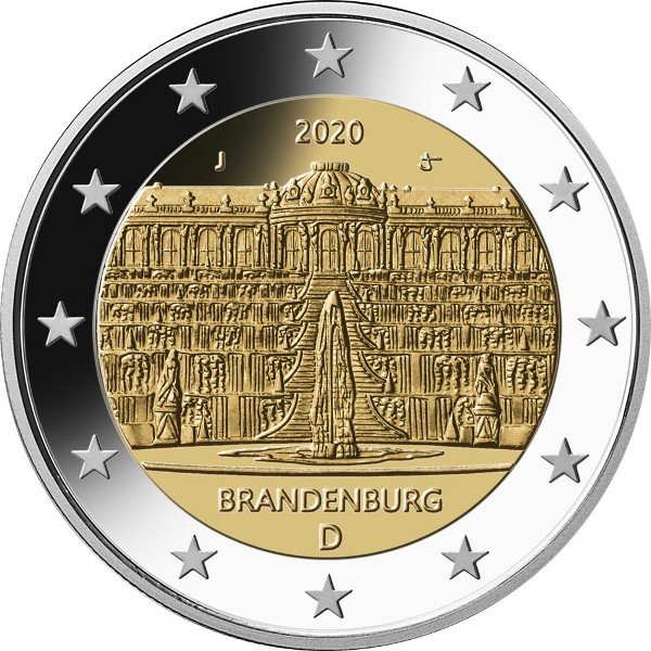 Germany – 2 Euro, BRANDENBURG, 2020