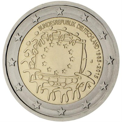 Germania - 2 Euro, La bandiera europea, 2015
