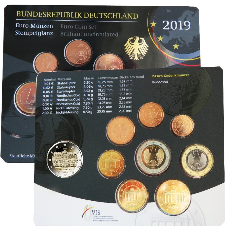 Germany - Official BU series 2019 (mint A)