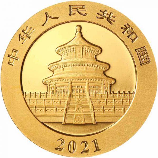 Chine - Gold coin BU 30g, Panda, 2021 (Sealed)