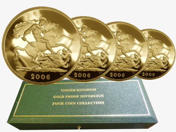 Regno Unito - Gold Proof Sovereign Four Coin Set, 2006
