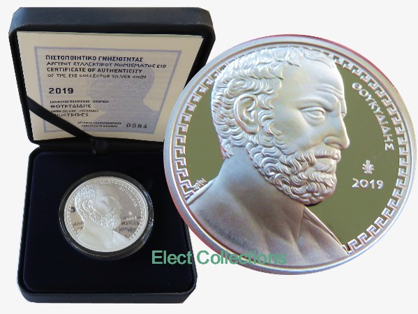 Greece - 10 euro silver PROOF, Thucydides, 2019
