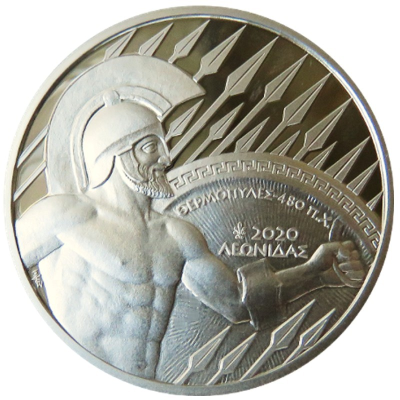 Greece - 10 euro silver, THE BATTLE OF THERMOPYLAE, 2020
