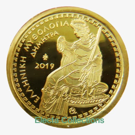 Greece - 100 Euro gold, OLYMPIAN GODDESS DEMETER, 2019