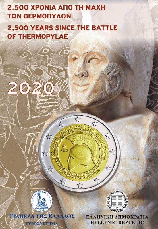 Griechenland – 2 Euro, BATTLE OF THERMOPYLAE, 2020 (coin card)