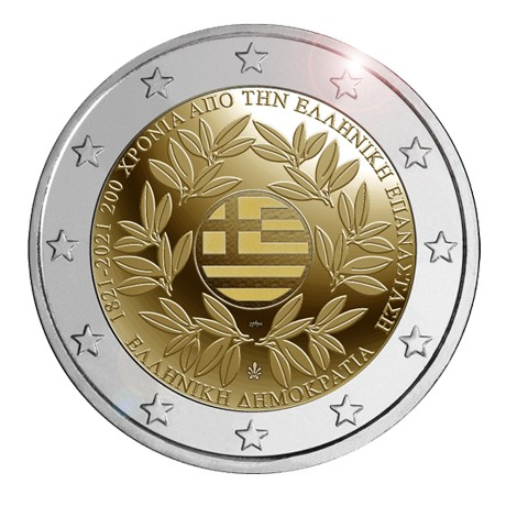 Griechenland – 2 Euro, 200 YEARS OF INDEPENDENCE, 2021 (rolls)