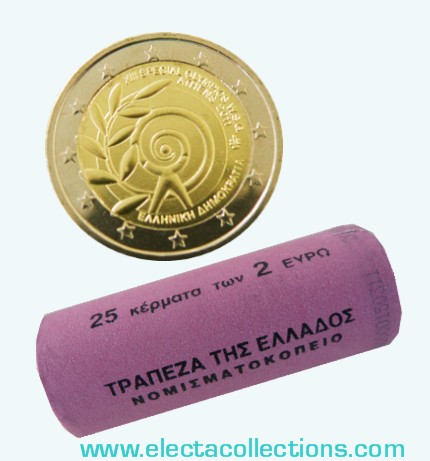 Greece – 2 Euro, Special Olympics, 2011 (rolls 25 coins)