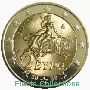 Greece - 2 Euro, Europa 2008 (BU in capsule)