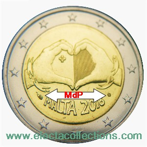 Malta - 2 Euro, Love, 2016 (coin card MdP)