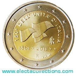 Italy – 2 Euro UNC, Unification of Italy, 2011