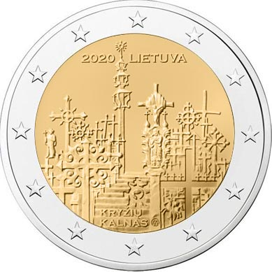 Lithuania - 2 Euro, The Hill of Crosses, 2020