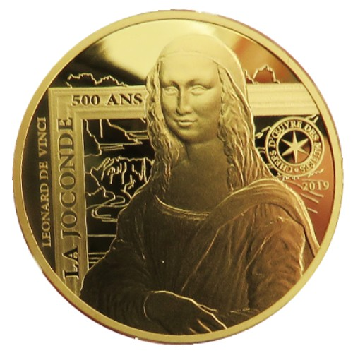 France - 50 Euro d'or BE, La JOCONDE, 2019